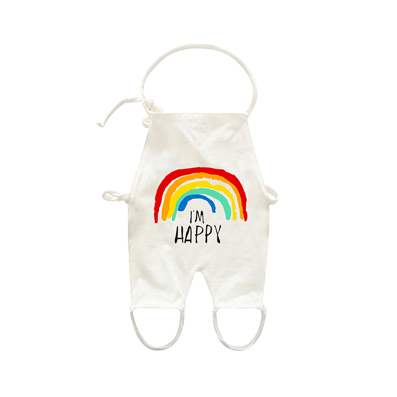 Lovely Rainbow Print Halter Top for Baby