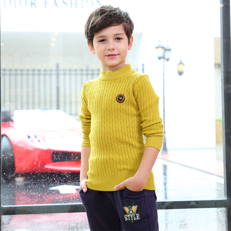 Bright Embroidered Ribbed Sweater for Boy