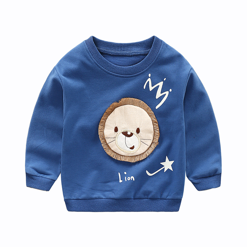 Lovely Lion Applique Long-sleeve Top for Toddlers