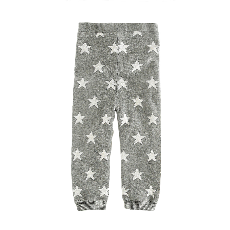 Warm Star Print Fleece Lining Pants for Baby and Toddler