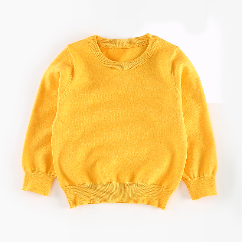 Soft Ribbed Trim Solid Sweater for Baby and Toddler