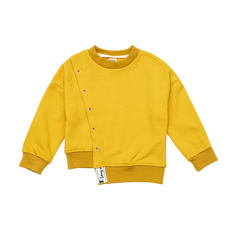 Unique Asymmetric Hem Sweatshirt for Boy