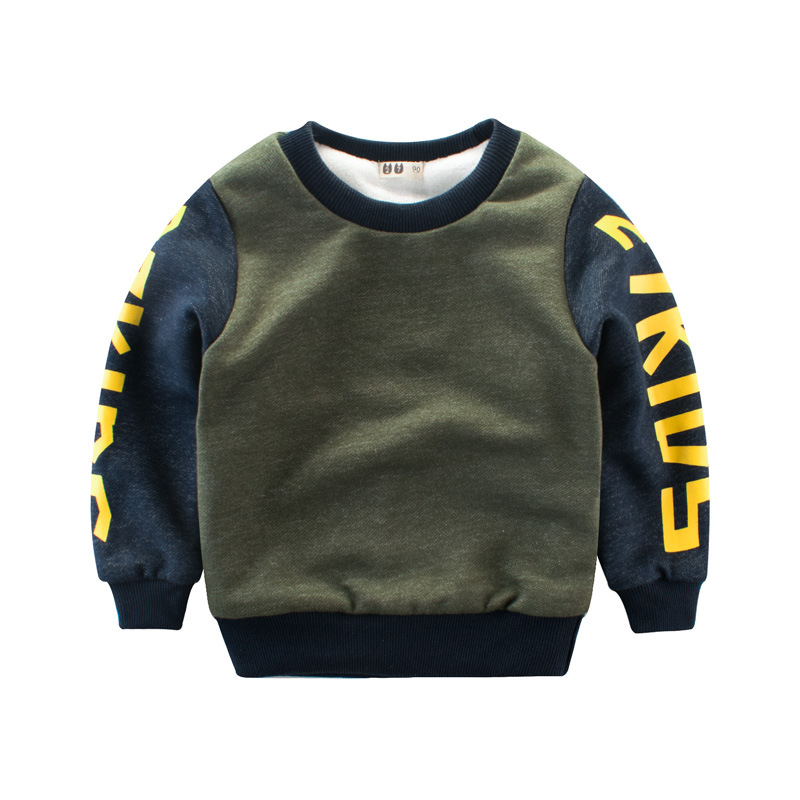 Sporty Letter Print Sweatshirt for Toddler and Kid