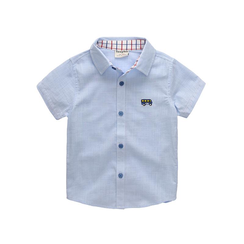 Stylish Car Embroidery Short-sleeve Shirt for Boy