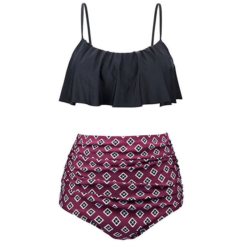2-piece Pretty Ruffled Bikini Set