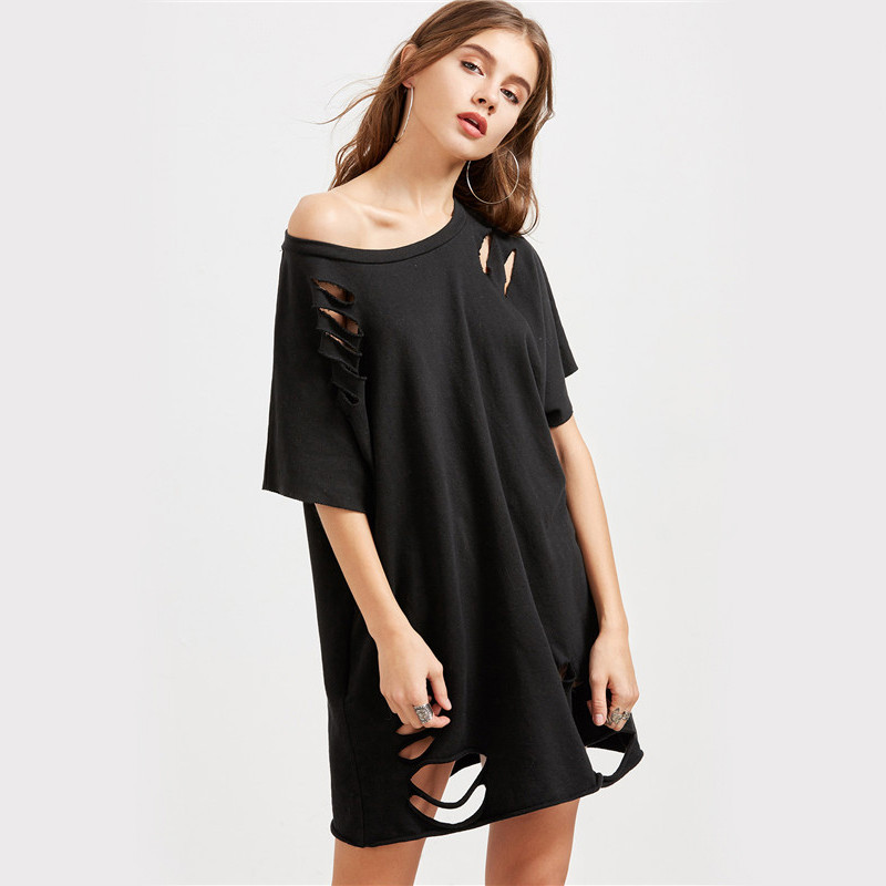 Casual Short-sleeve Hollow Out T-shirt for Women