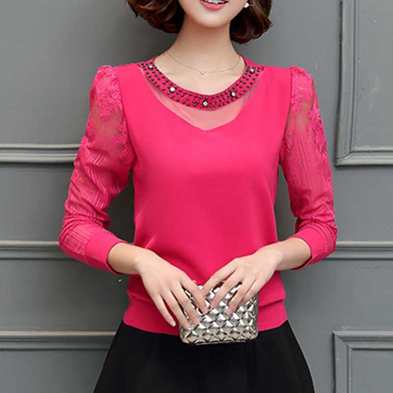 Stylish Beaded Long-sleeve T-shirt for Women