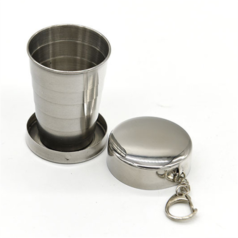 Portable Fodable Stainless Steel Cup