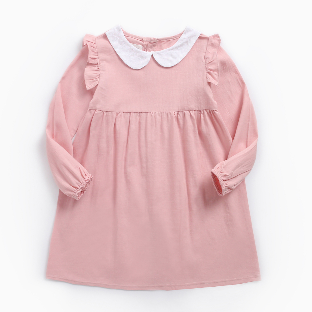 Lovely Flounced Doll Collar Dress for Toddler Girl/Girl