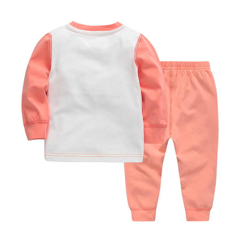 2-piece Funny Chick Print Long-sleeve Shirt and Pants for Baby Girl